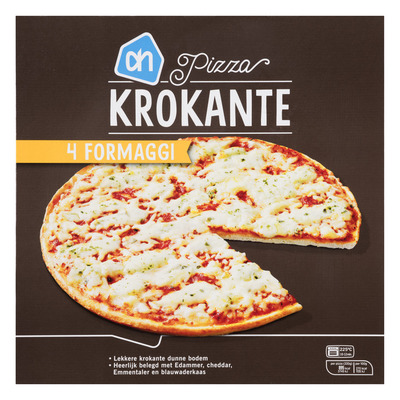 Huismerk Krokante pizza 4 formaggi
