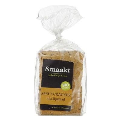 Smaakt Spelt cracker met lijnzaad