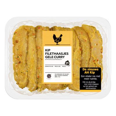 Huismerk Kipfilethaasjes gele curry
