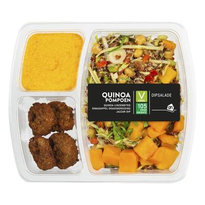 Huismerk Dipsalade quinoa-pompoen met jazzar