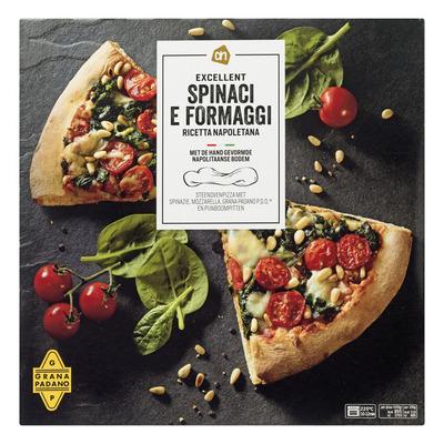 AH Excellent Steenoven pizza spinaci e formaggio