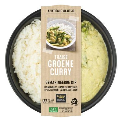 Huismerk Groene curry met jasmijnrijst