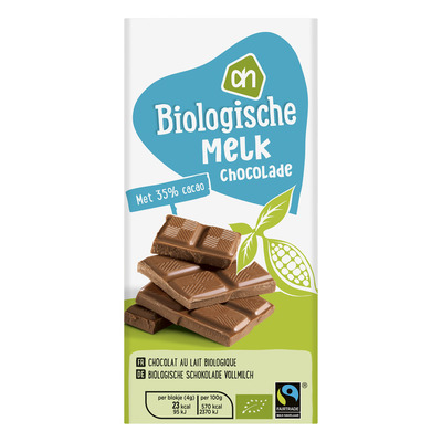 Huismerk Biologisch Melkchocolade tablet