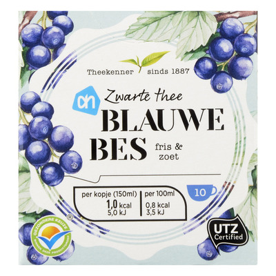 Huismerk Zwarte thee blauwe bes