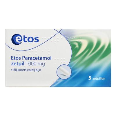 Huismerk Paracetamol zetpillen 1000 mg