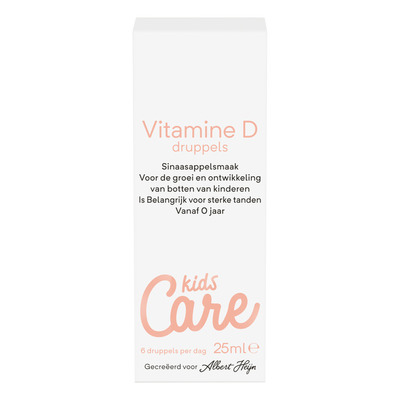 Care Vitamine D druppels kids sinaasappel