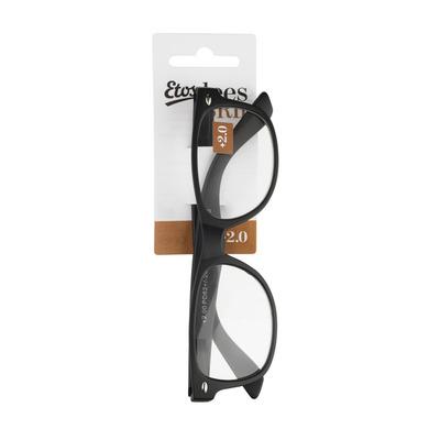 Etos Leesbril mat zwart +2