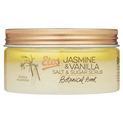 Huismerk Botanical Jasmine & vanilla salt scrub
