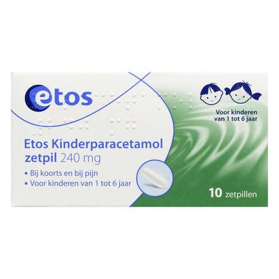 Etos Kinderparacetamol zetpillen 240 mg