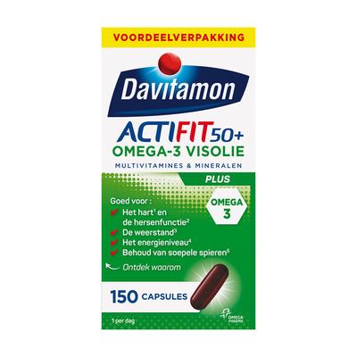 Davitamon Actifit omega-3 visolie capsules 50+