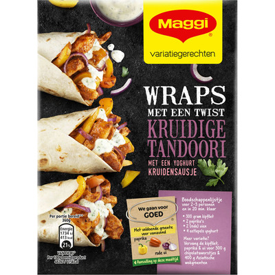 Maggi Wraps met twist kruidige tandoori