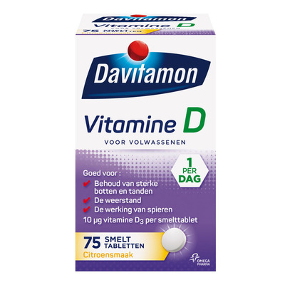 Davitamon Vitamine D smelttabletten citroen