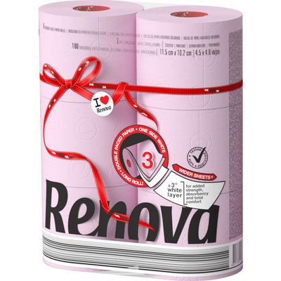 Renova Toiletpapier lichtroze 3-laags