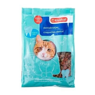 Huismerk Dentabrokjes met Kip en Groenten Kattenvoer