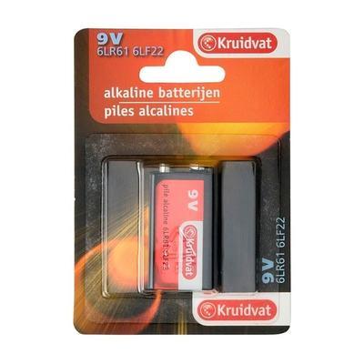 Kruidvat 9 Volt Alkaline Batterijen