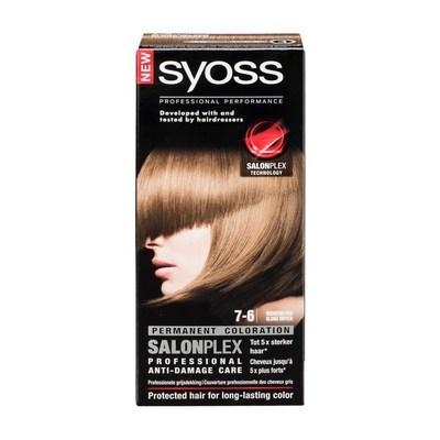 Syoss Salonplex 7-6 Middenblond Permanente Haarkleuring