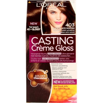 L'Oréal Cast. Crème Gl. 403 ChocMuf/Natu. Midden Goudbruin