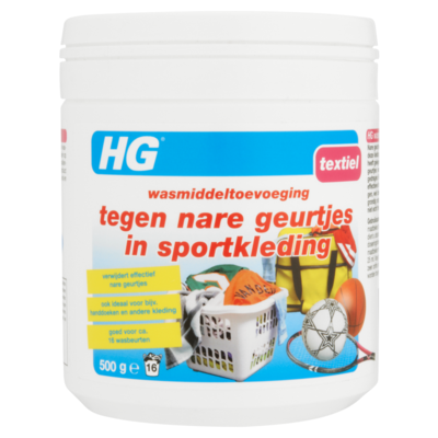 Hg Textiel Wasmiddeltoevoeging tegen Nare Geurtjes in Sportkleding 500 g