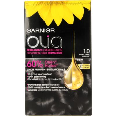Garnier Olia Permanente Kleuring 1.0 Nacht Zwart