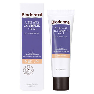 Biodermal Anti-age cc crème - medium