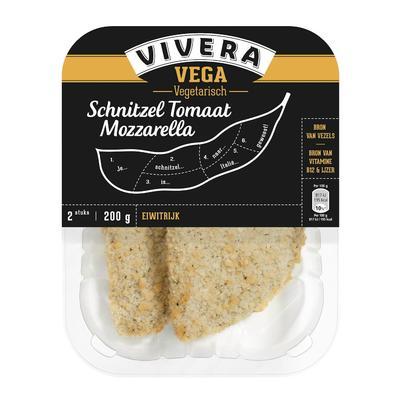 Vivera Schnitzel Tomaat Mozzarella