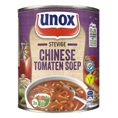 Unox Soep in blik stevige Chinese tomatensoep