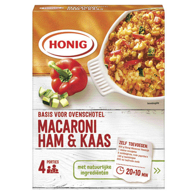 Honig Basis voor macaroni ovenschotel ham-kaas
