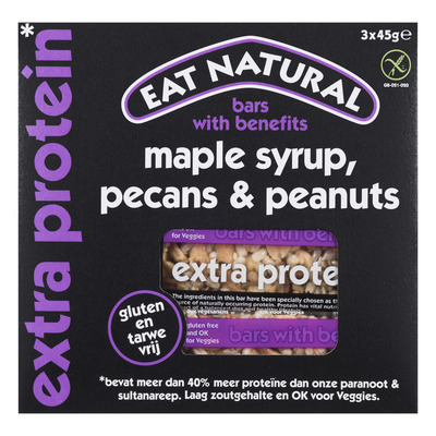 Eat Natural Extra protein maple syrup-pecans-peanut