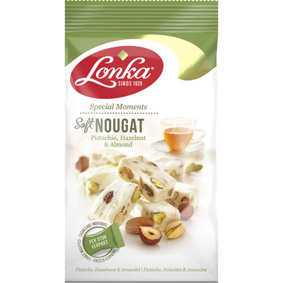 Lonka Soft nougat pistache hazelnoot amandel