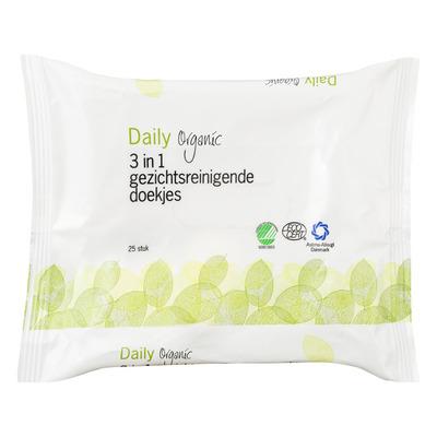 Daily Organic 3-In-1 gezichtsreinigende doekjes