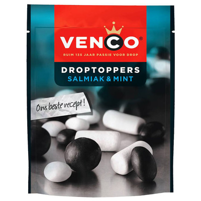 Venco Droptoppers salmiak-mint