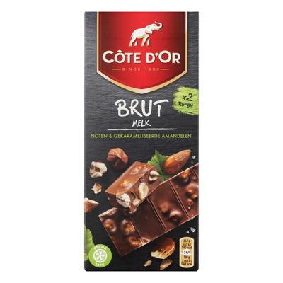 Côte d'Or Brut melk gekarameliseerde amandelen