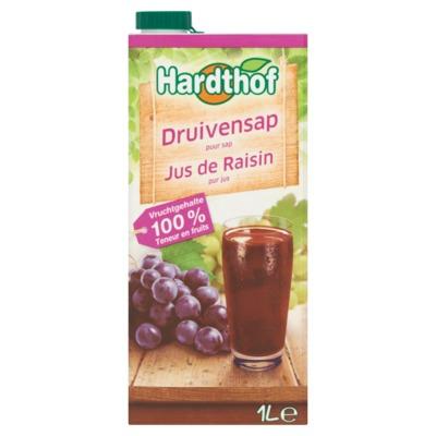 Hardthof rode druivensap 1 liter