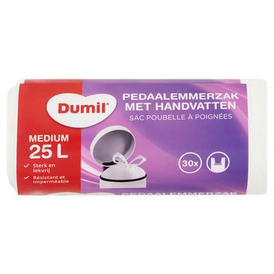 Dumil Pedaalemmerzak met Handvatten Medium 25 L 30 Stuks