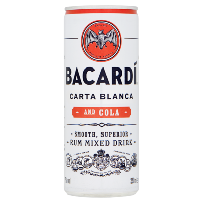 Bacardí Rum en Cola 250 ml