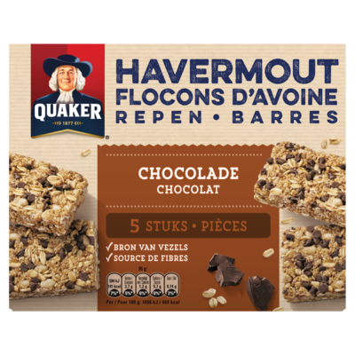 Quaker Havermout Repen Granenreep Chocolade 5x35g