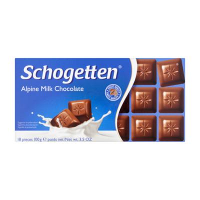 Schogetten Alpine Milk Chocolate 18 Stuks