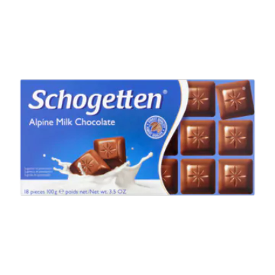 Schogetten Alpine Milk Chocolate 18 Stuks