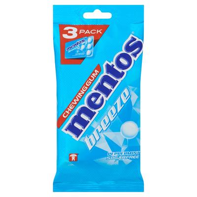 Mentos Gum Breeze Peppermint Sugarfree 3 x 17,5 g