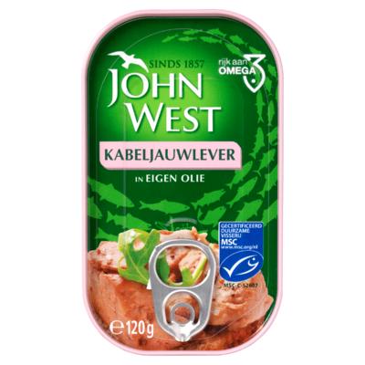 John West MSC Kabeljauwlever in Eigen Olie 120 g