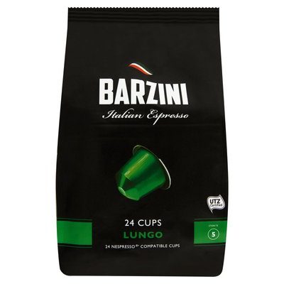 Barzini Italian Espresso Lungo 24 Cups 120 g