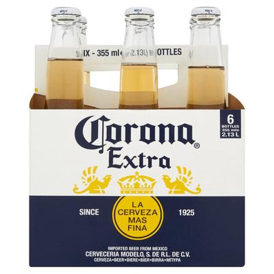 Corona Extra La Cerveza Mas Fina Flessen 6 x 355 ml