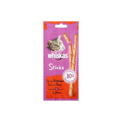 Whiskas Rijk Aan Rundvlees 3 Sticks 18 G