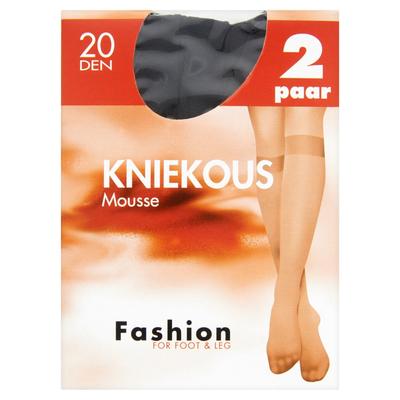 Fashion for Foot & Leg Kniekous Mousse Zwart 20 Den 2 Paar