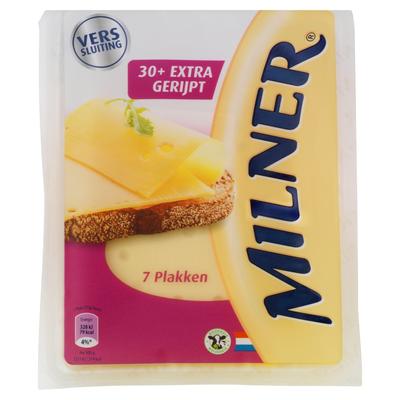 Milner Extra Gerijpt 30+ Kaas 7 Plakken 175 g