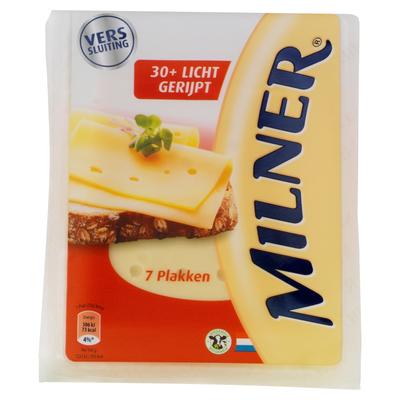 Milner Licht Gerijpt 30+ Kaas 7 Plakken 175 g