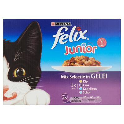 Felix Junior Mix Selectie in Gelei 12 x 100 g
