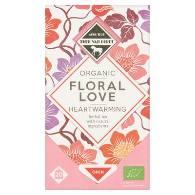 Thee Van Oordt Organic Floral Love Heartwarming 20 x 2 g