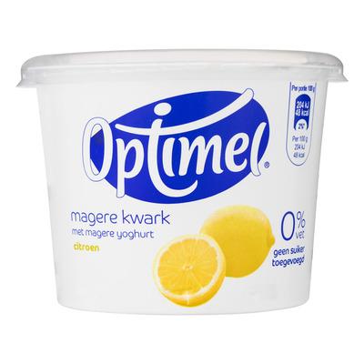 Optimel Kwark 0% vet citroen