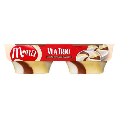 Mona Vla Trio Vanille Chocolade Slagroom 2 x 135 g